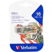 «Флешка USB 2.0 16Gb Verbatim Store'n'go MINI TATTOO DRAGON 49888»