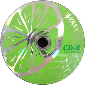 Купить «Диски CD-R KAKTUZ 700  Mb 52  x Bulk 50 штук «LIME» » в магазине color-it»